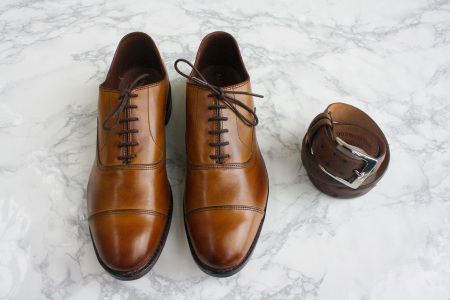 Brown Shoes and Ostrich Belt